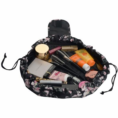 Floral Easy Go Drawstring Makeup Bag