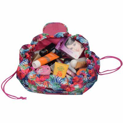 Floral Easy Go Drawstring Makeup Bag