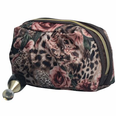 Quality Monogrammed Leopard Print Cosmetic Pouch