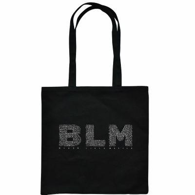 Canvas Tote Bag Monogrammed Black Lives Matter(BLM)