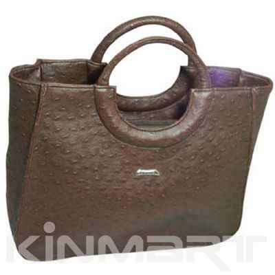 Ostrich Leather Tote Handbag