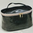 Diamond PVC Leather Cosmetic Vanity Bag