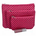 Polka Dots Cosmetic Bag 3PC Set Personalized