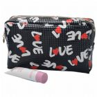 Men Check Travel Toilet Bag Personalizable