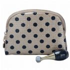 Glam Small Dots Cosmetic Bag Monogrammed