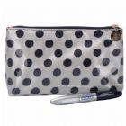 Polka Dots Quality Nylon Makeup Bag