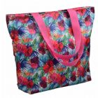 Floral Monogrammed Shopping Bag