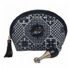 Personalised Semi-Circle Cosmetic Bag with Decorative Zipper Pull