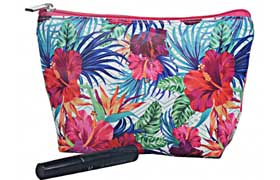 Cosmetic Bags, Tote Bags Monogrammed with Flora Print Pattern