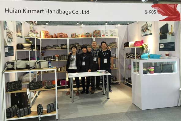 Kinmart team at Asia cosmoprof HK with booth no 6-K05