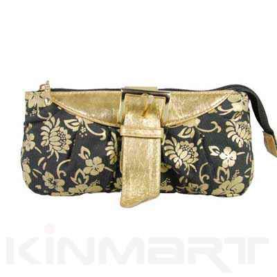 Black & Gold Cosmetic purse from Kinmart